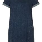 Denim dress, £28, Topshop