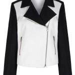 Monochrome biker jacket, £99, Pied a Terre