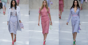 The Burberry catwalks were abundant with pastel hues this season.