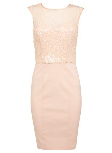 Sequin dress, £45, Miss Selfridge