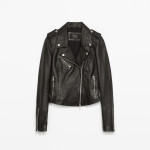Leather jacket, £119, Zara