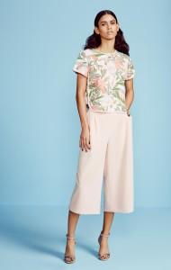 Tropical print tee £18, culottes £20, Dorothy Perkins