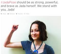 A feminist who posed to support Jada, rather than mock her