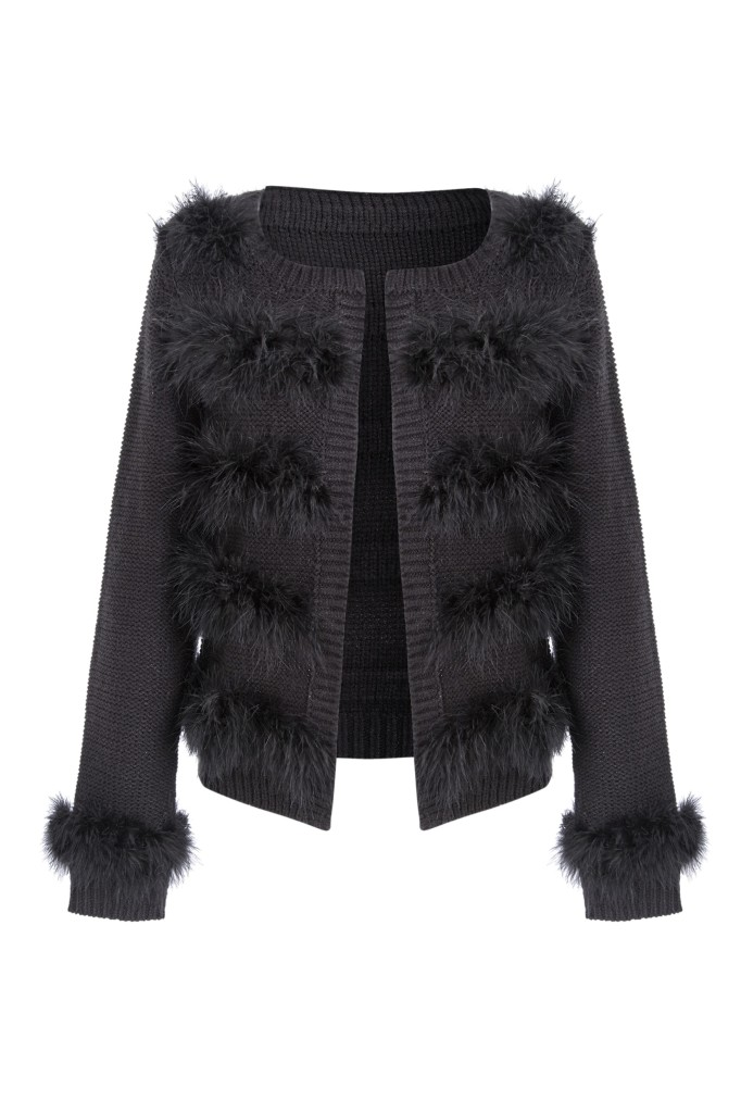 Cardigan, £43, Julien Macdonald