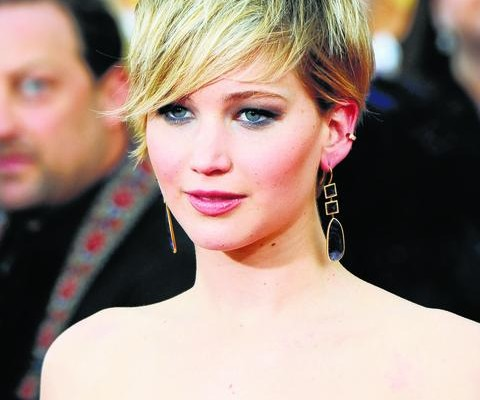 HACKED: Movie star Jennifer Lawrence.