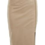 Camel skirt, £75, Miss Selfridge