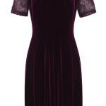 Velvet and lace dress, £65, M&