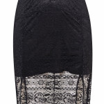 Crochet floor dress, £85, Miss Selfridge.