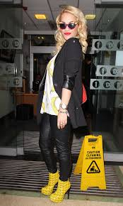 Rita Ora shows off her Kandee boots.