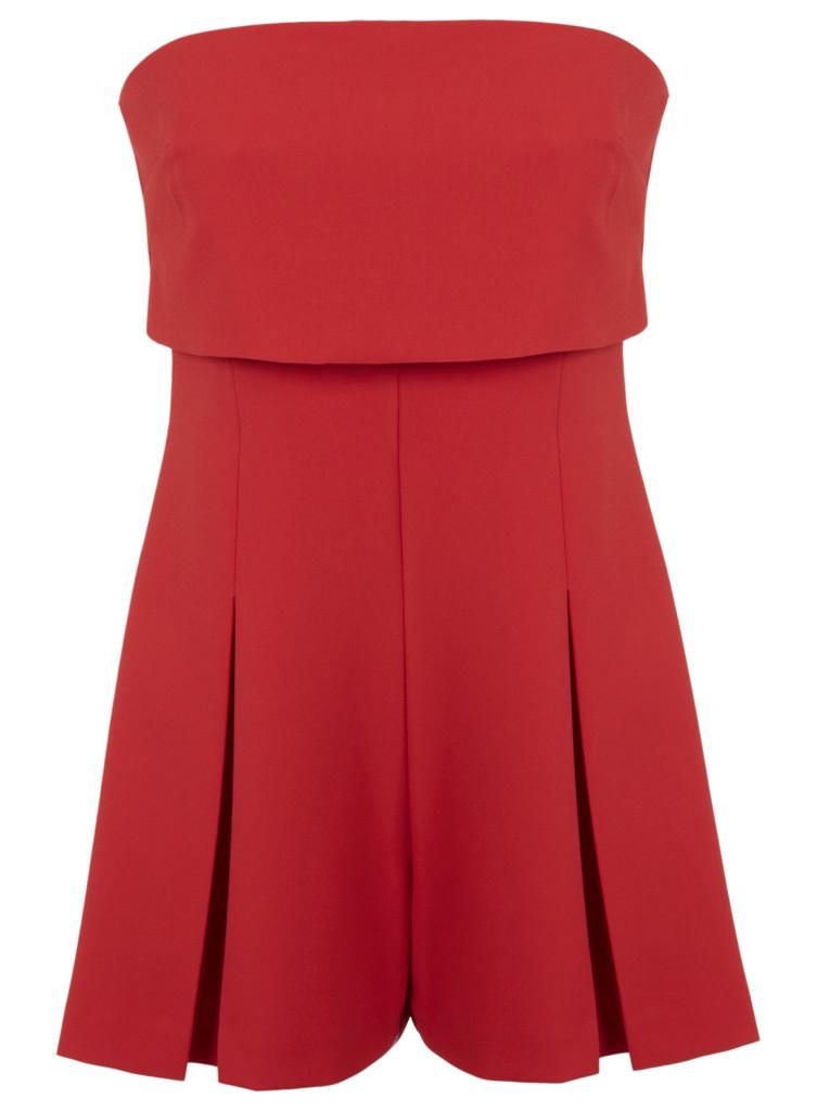 Red jumpsuit, £43, Miss Selfridge