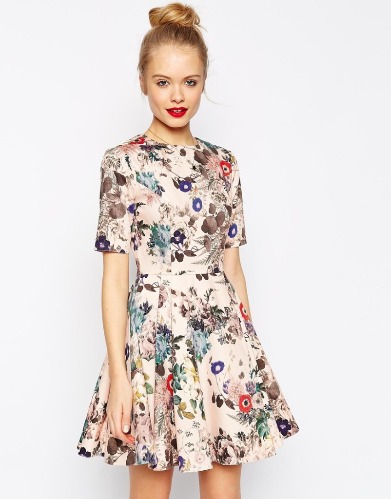 Print dress, 42, ASOS