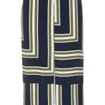 Striped slit skirt, 36, Topshop