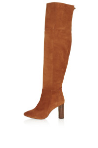 Suede boots, £65, Topshop
