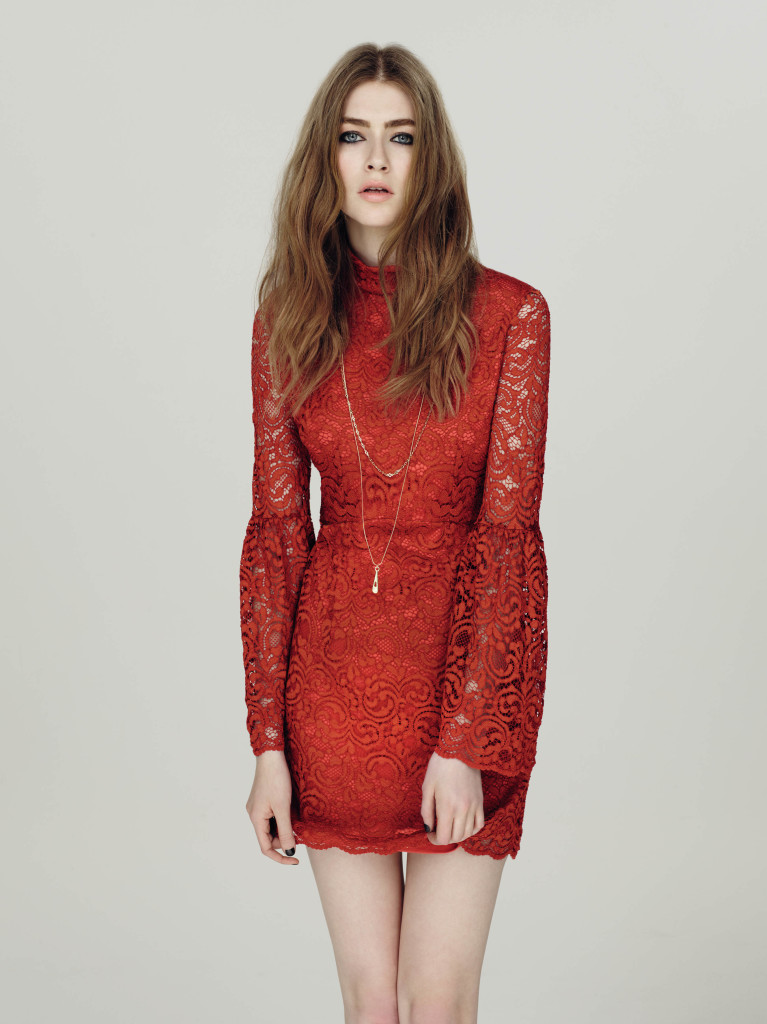 Lace dress, £49, Miss Selfridge