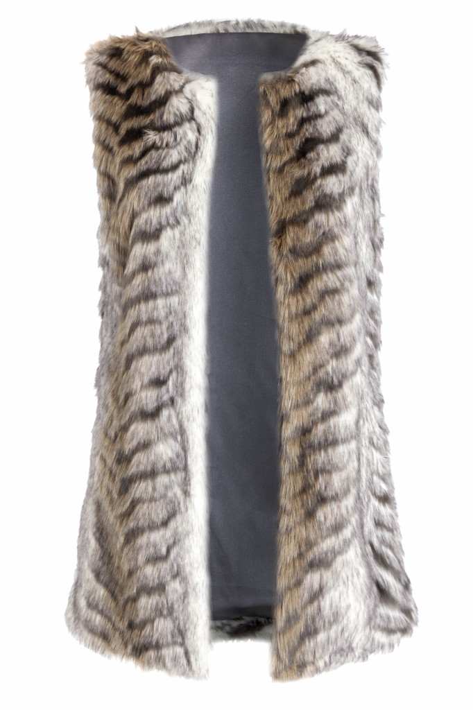 Fur gilet, £45, Red Herring