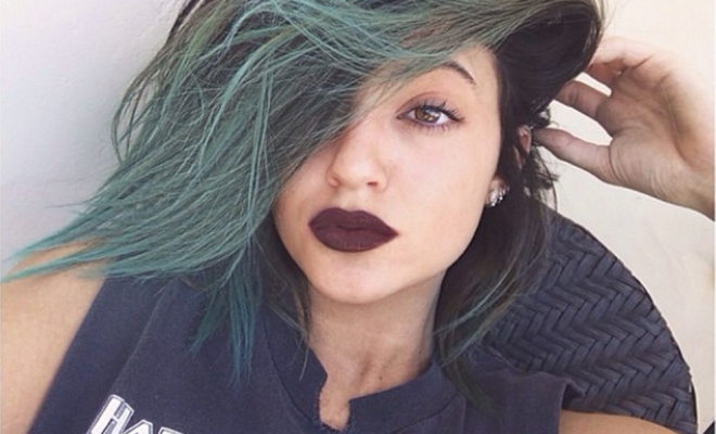 LIME CRIME LOVER: Kylie always wears a matte lip look.