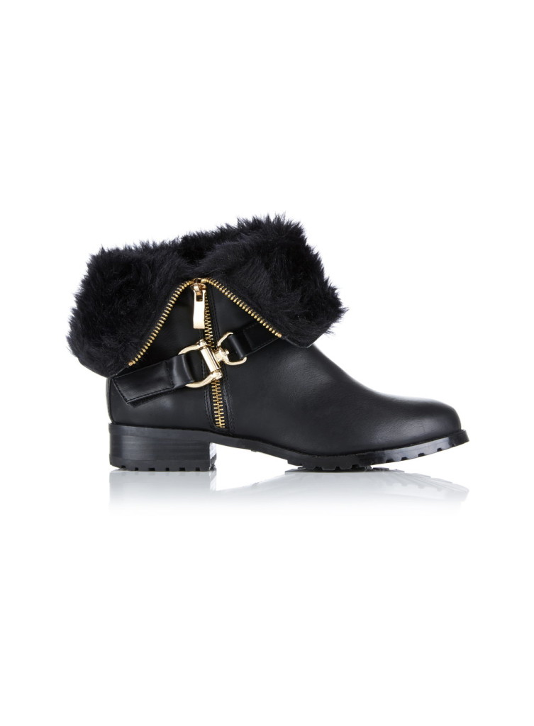 Biker boots, £49, Miss Selfridge