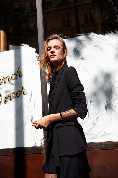 Blouse and blazer, both Zara