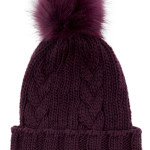 Cable knit hat, £12, Warehouse
