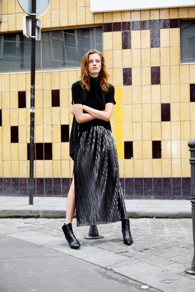 Jumper and skirt, both Zara