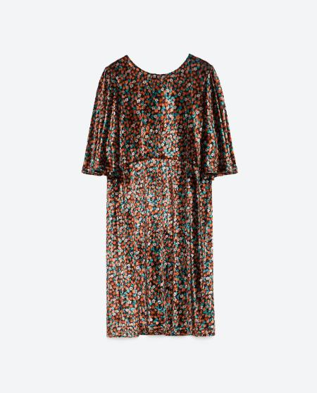 Sequin dress, £39.99 Zara