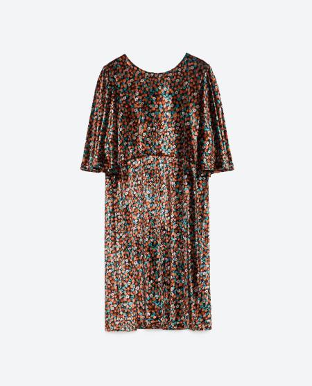 Sequin dress, £39.99 Zara
