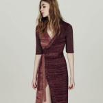 metallic knit wrap dress, £45, Miss Selfridge