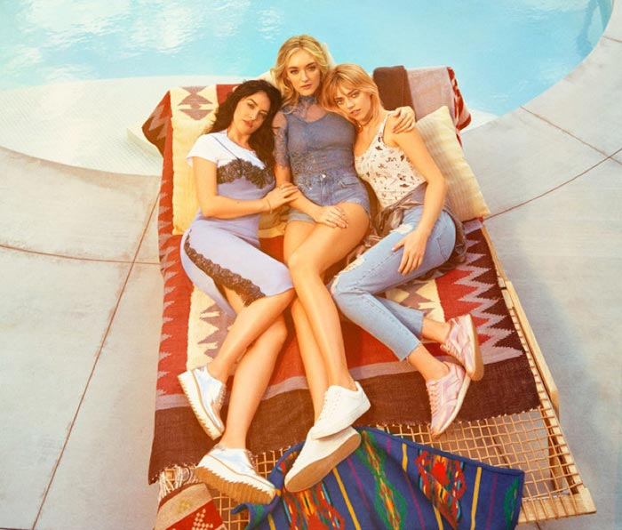 Girl group The Atomics model the new collection