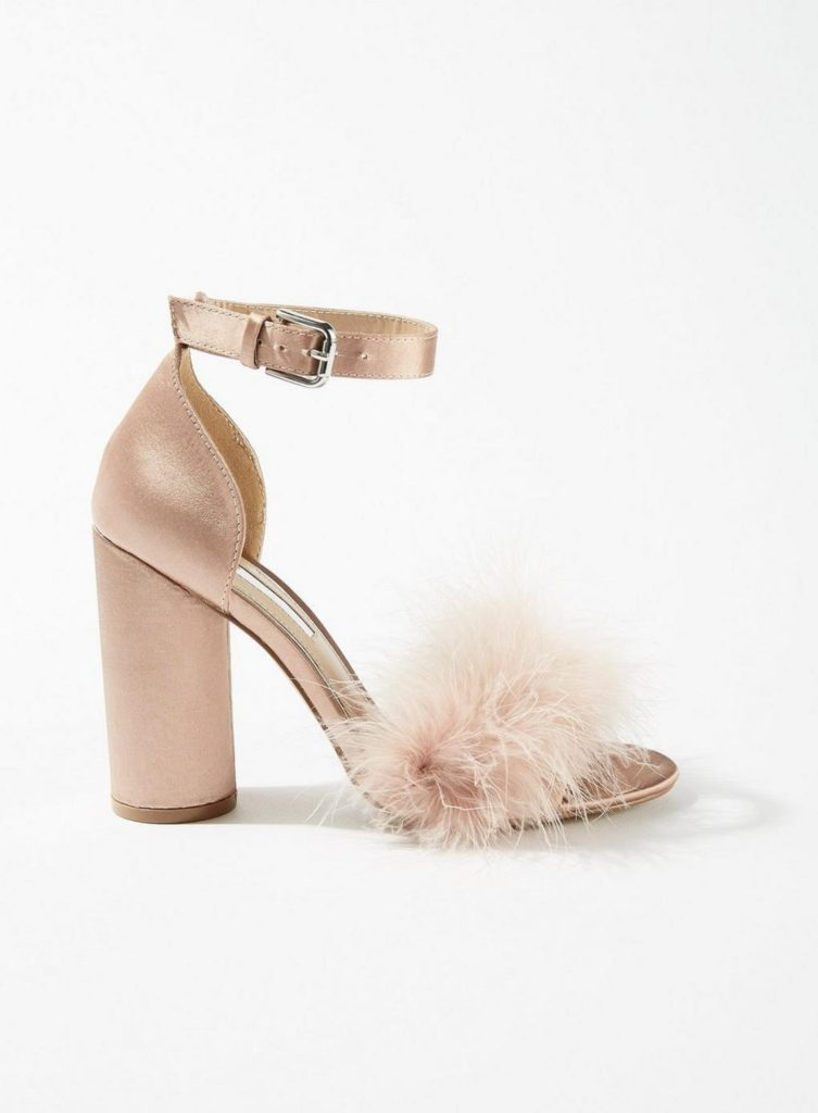 Feather Block Heel Sandals, £39